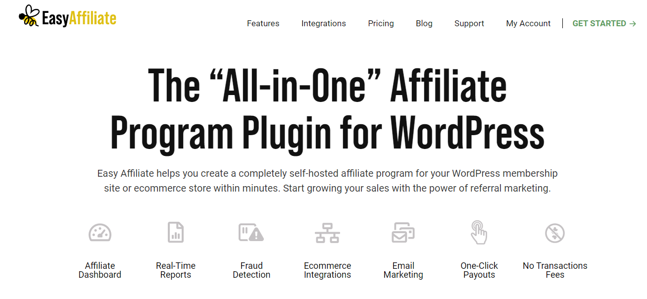 Easy Affiliate is generally designed for small businesses.