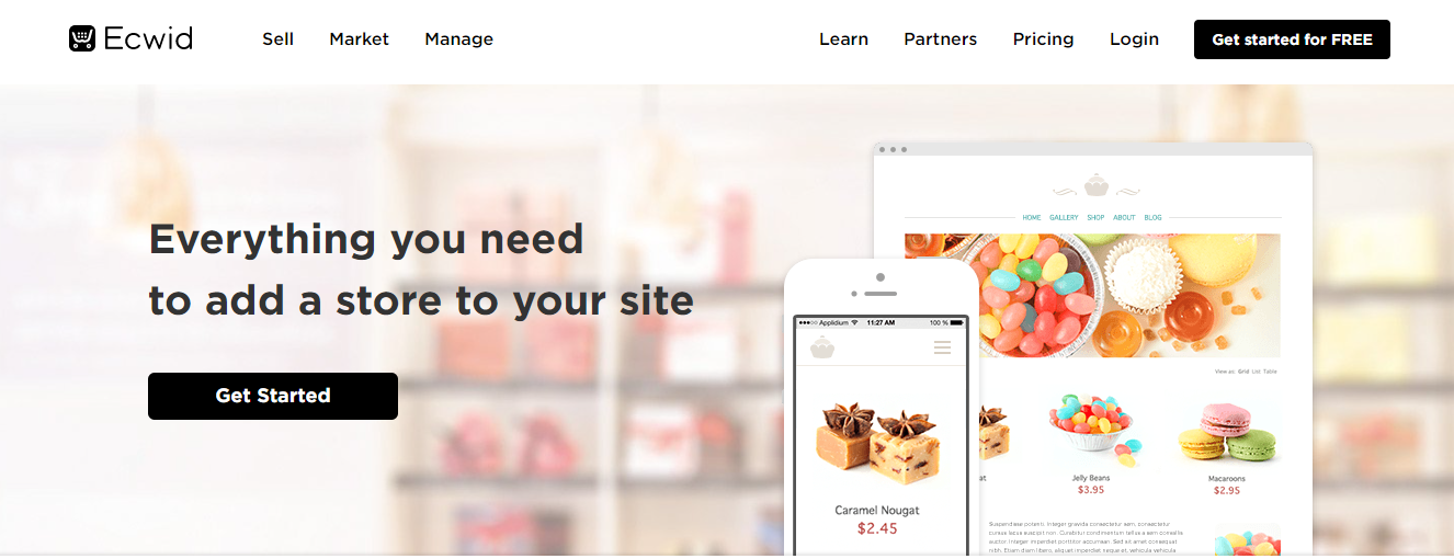Ecwid is a plugin that helps you sell your product in an e-commerce system.