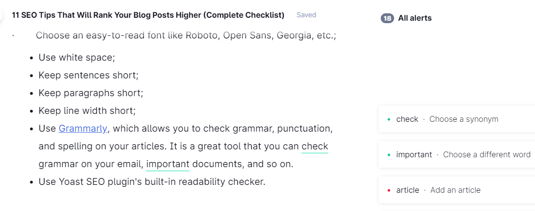 Make Your Articles Readable