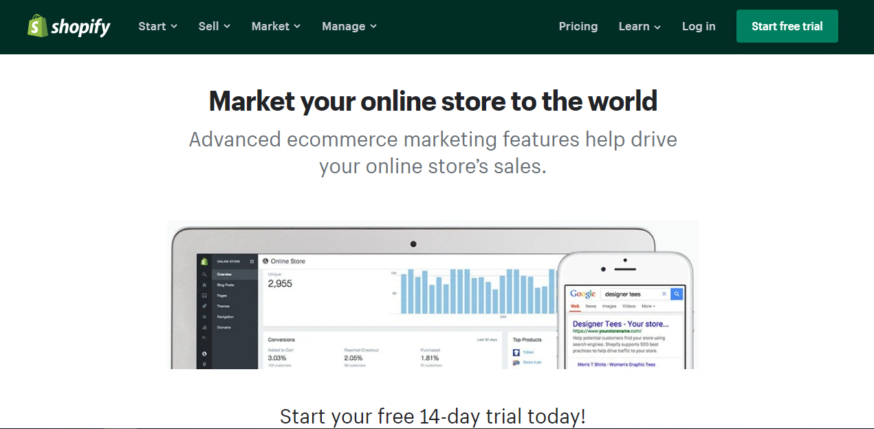 Shopify provides everything you need to build a successful online store. Shopify is used to sell almost everything.