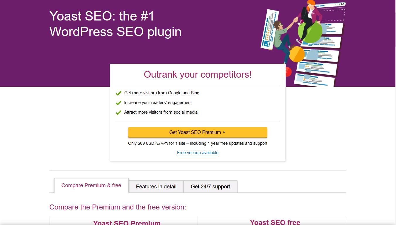 YoastSEO homepage