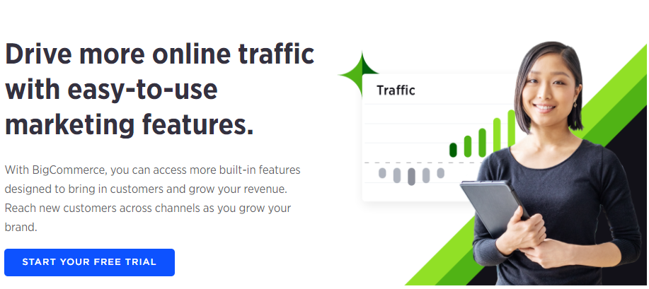 Bigcommerce is another suitible plugin for e-commerce.